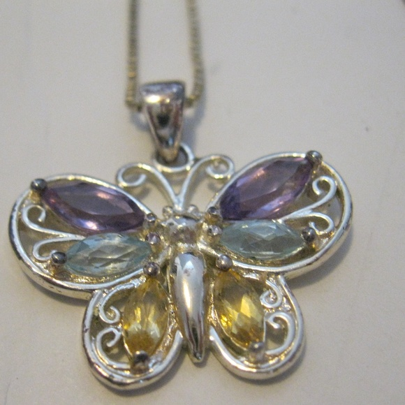 Jewelry - Butterfly Pendant Sterling Silver Necklace